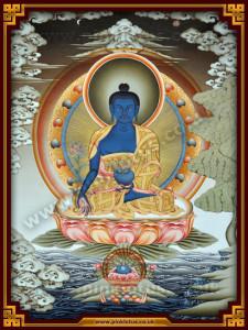 Medicine_Buddha_Tibetan Thangka_Thanka_Tangka