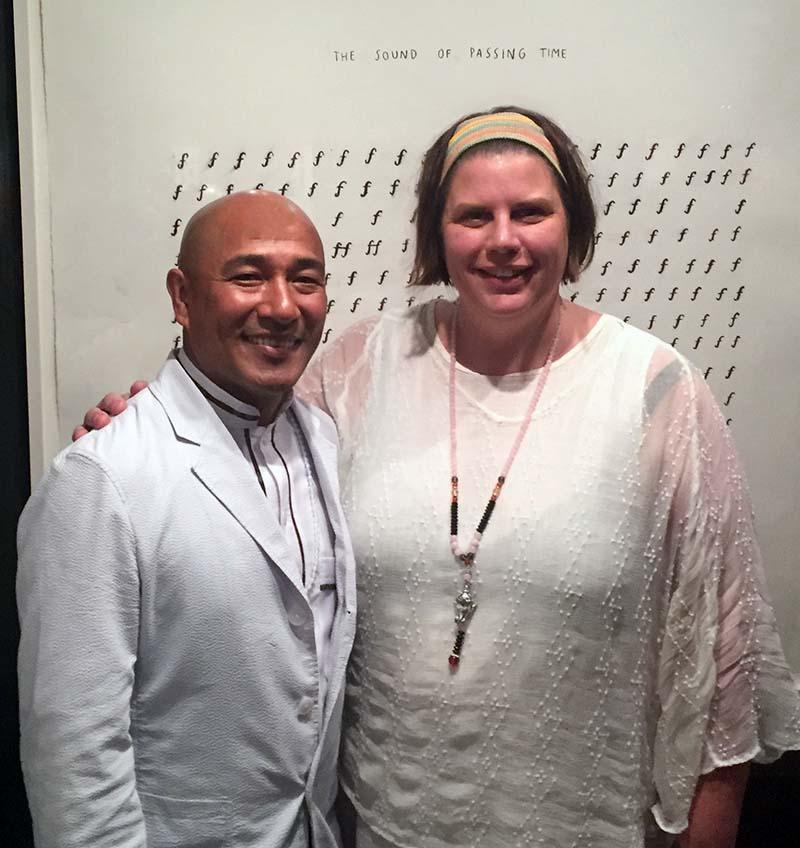 Suren Shrestha and Kathy Hamer, Rubin Museum, 2018