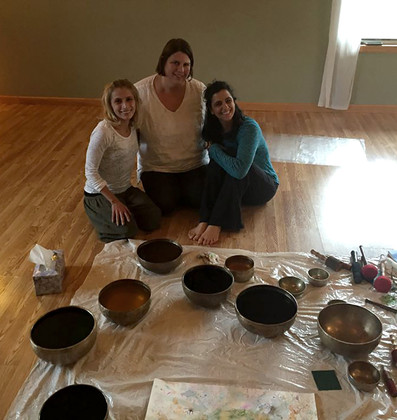 Kathy Hamer, Singing Bowls Painting Workshop